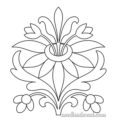400x443 Free Hand Embroidery Pattern Sprouting Floral And Your Input