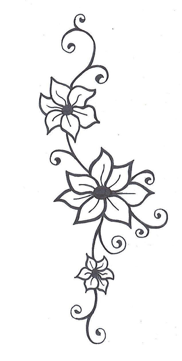 635x1257 Flower Vines, Vine Tattoos And Flower Vine Tattoos
