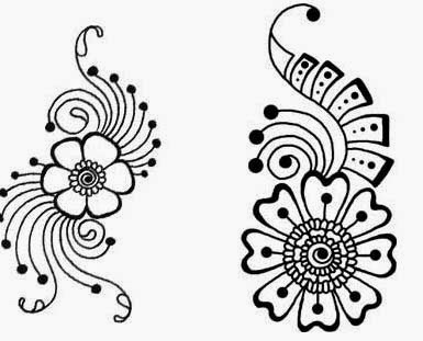Simple flower patterns drawing at getdrawings free for 385x311 simple henna flower pattern thecheapjerseys Choice Image