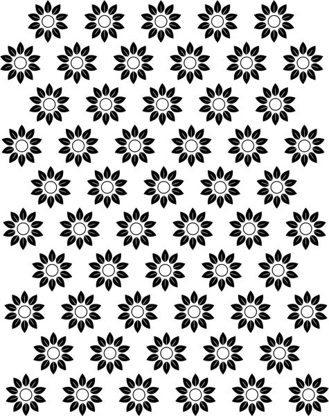 475x600 Black And White Flowers Patterns