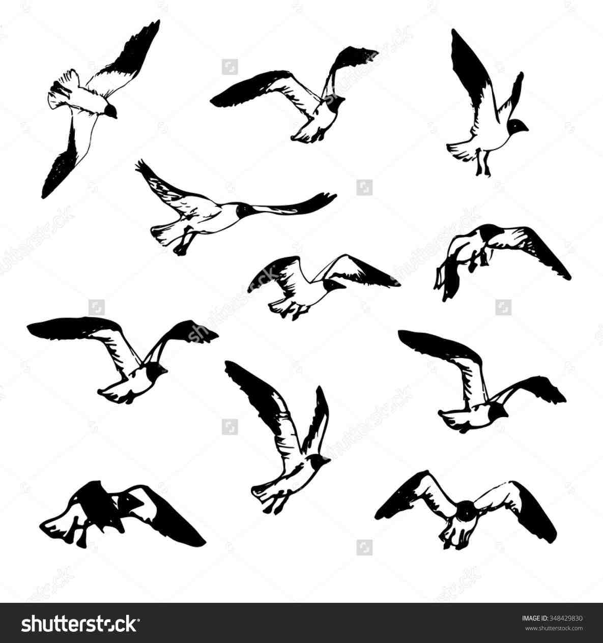 Simple Flying Bird Drawing at GetDrawings.com | Free for personal ...