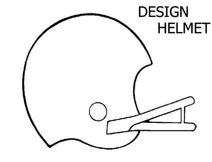 football helmet coloring pages printable - simple football helmet drawing at free