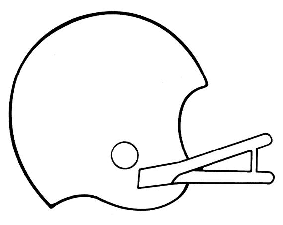 570x453 Simple Football Helmet Drawing Clipart Panda
