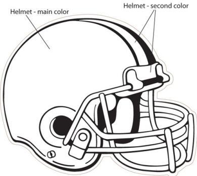 390x349 Charming Football Helmet Design Template Images
