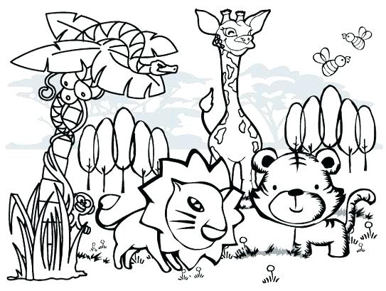 Simple Forest Drawing With Animals at GetDrawings.com | Free for ...