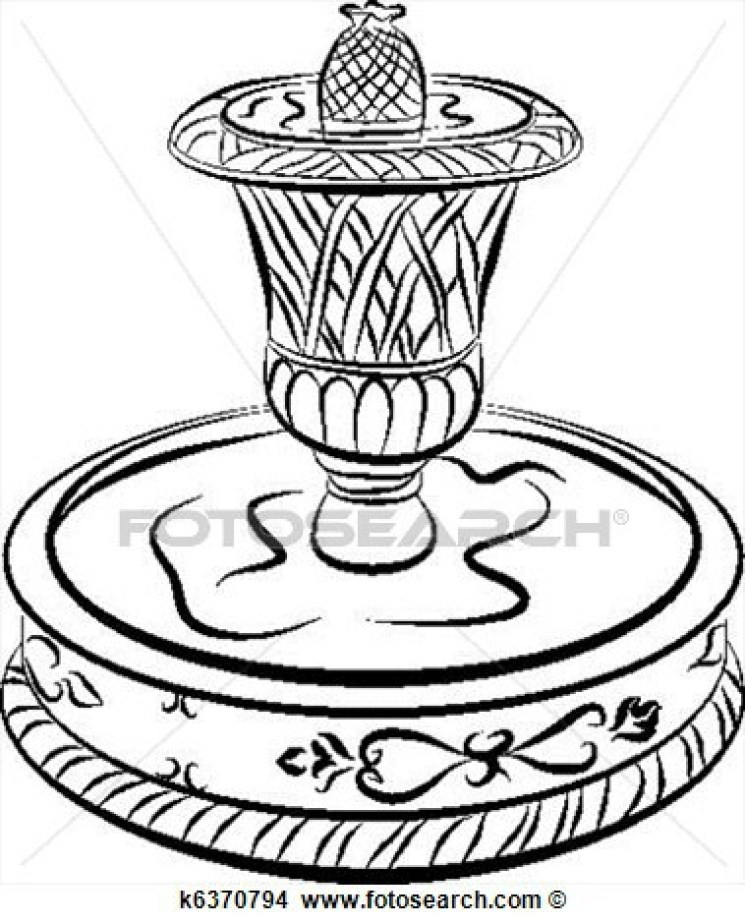 745x924 Similiar Drinking Fountain Drawing Simple Keywords, Water Fountain