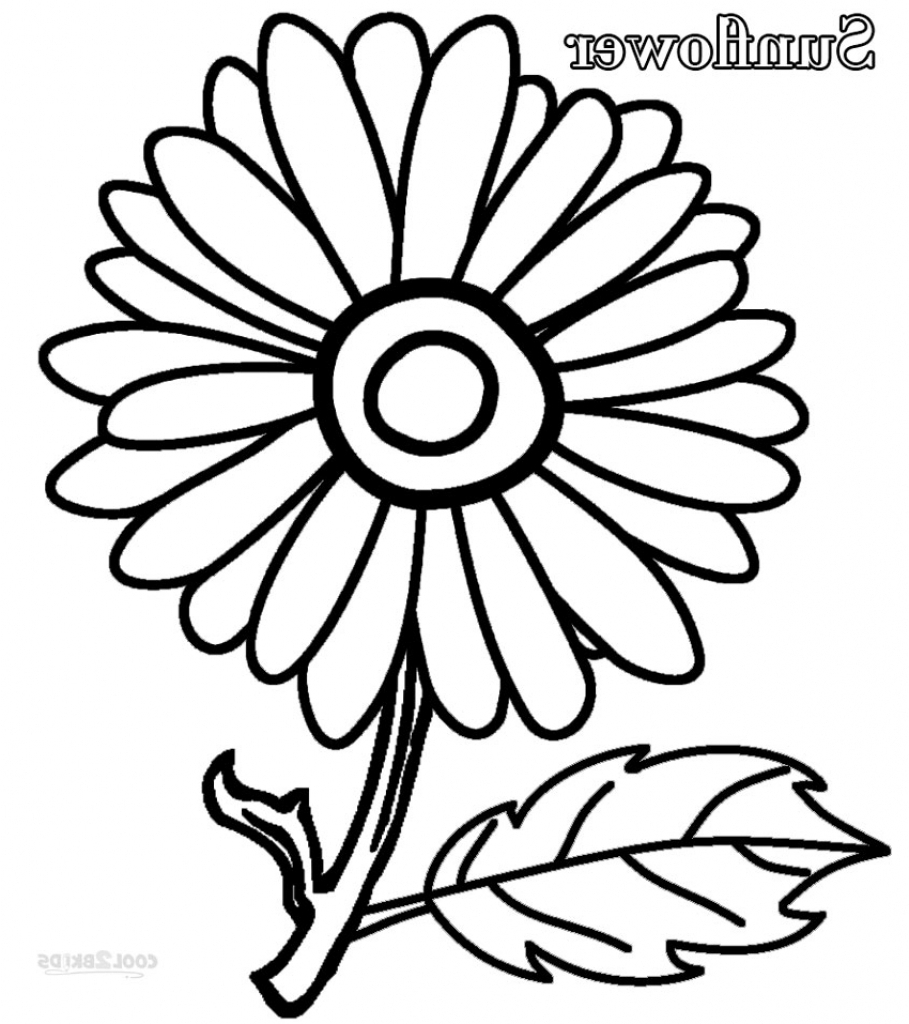 909x1024 Simple Sunflower Drawing Step By Step