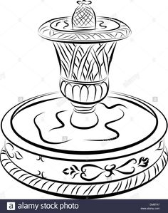 236x299 Fountain Drawing How To Draw A Fountain, Water Fountain Step 6