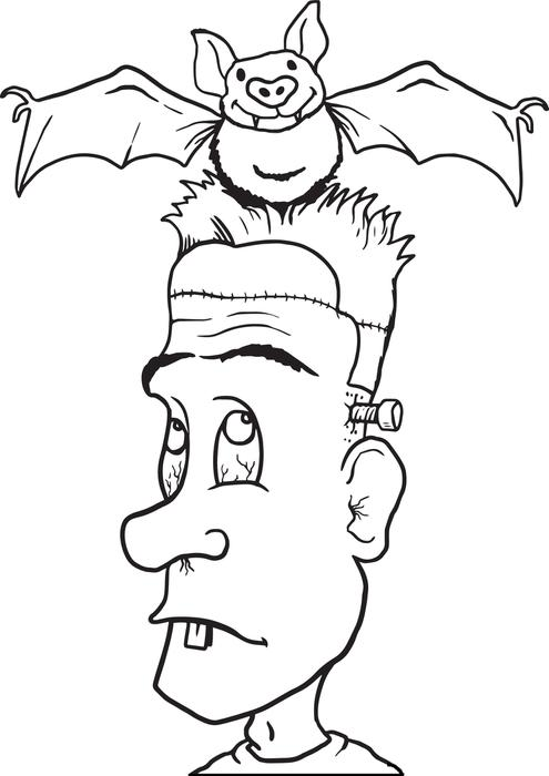 495x700 Free Printable Frankenstein Coloring Page For Kids