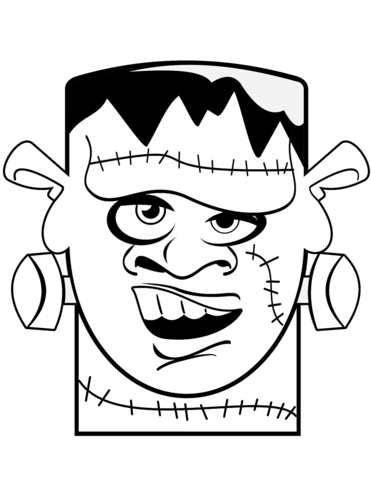 371x480 Frankenstein Head Coloring Page Free Printable Coloring Pages
