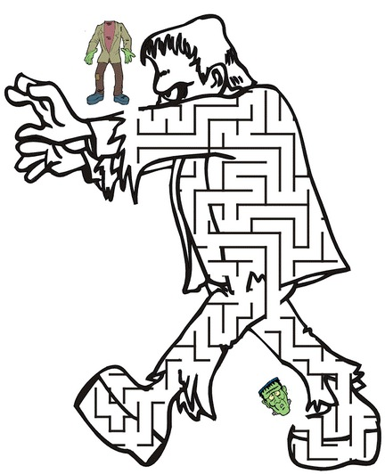 432x532 Frankenstein Printable Maze Amp Coloring Book