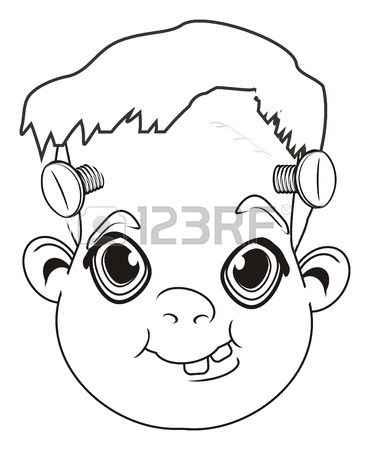 370x450 319 Frankenstein Head Stock Vector Illustration And Royalty Free