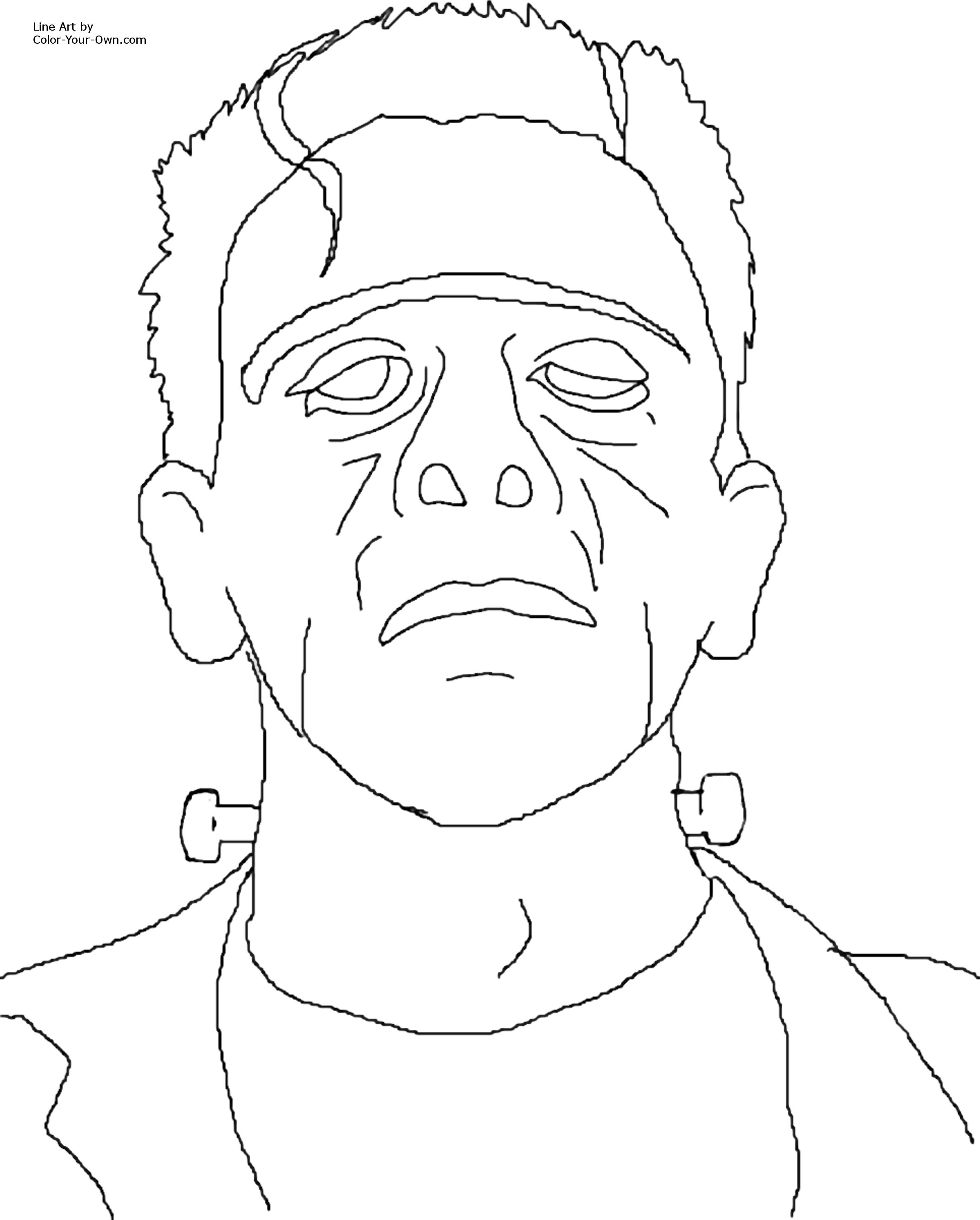 2400x2988 Bride Of Frankenstein Coloring Pages