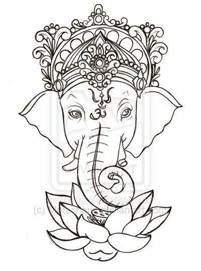 Simple Ganesha Drawing