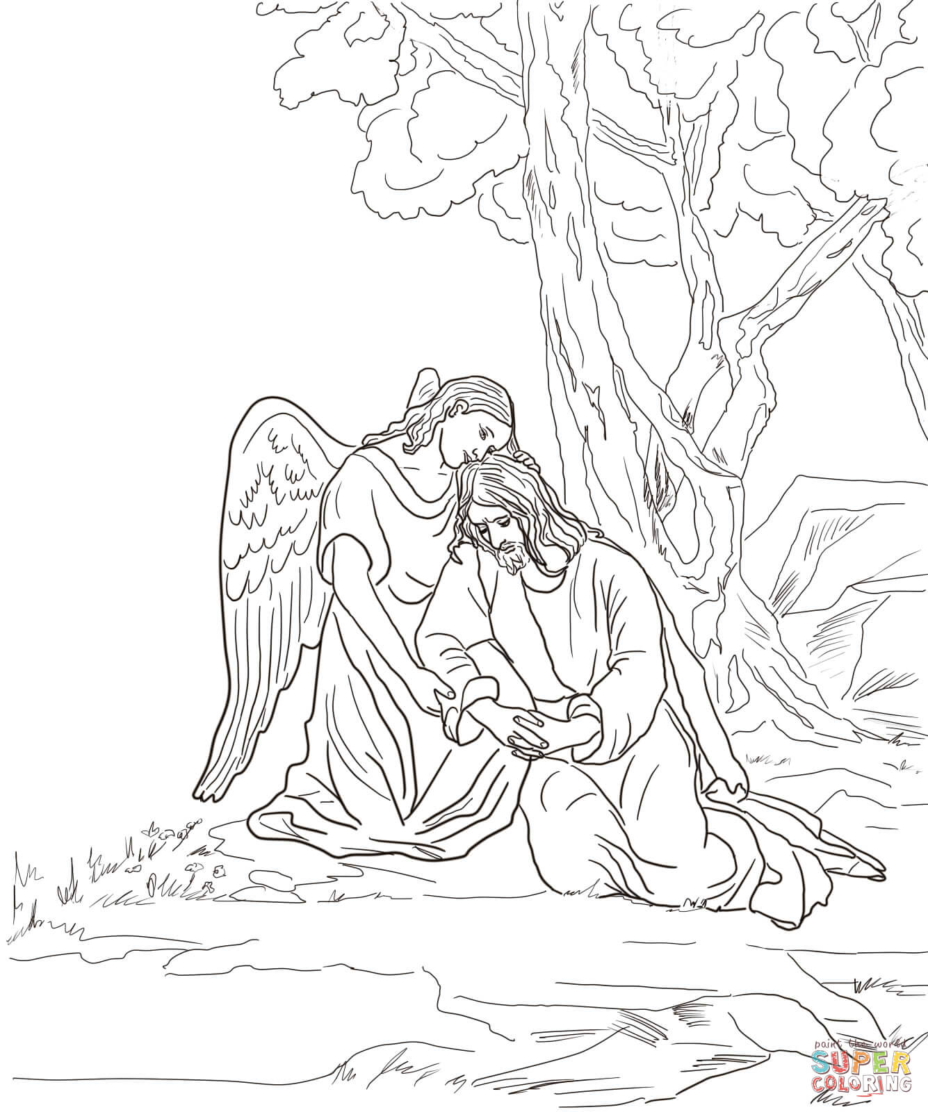 1335x1600 Agony In The Garden Coloring Page Free Printable Pages