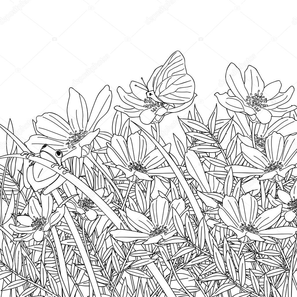 1024x1024 Simple Flower Garden Sketch Simple Flower Garden Sketch