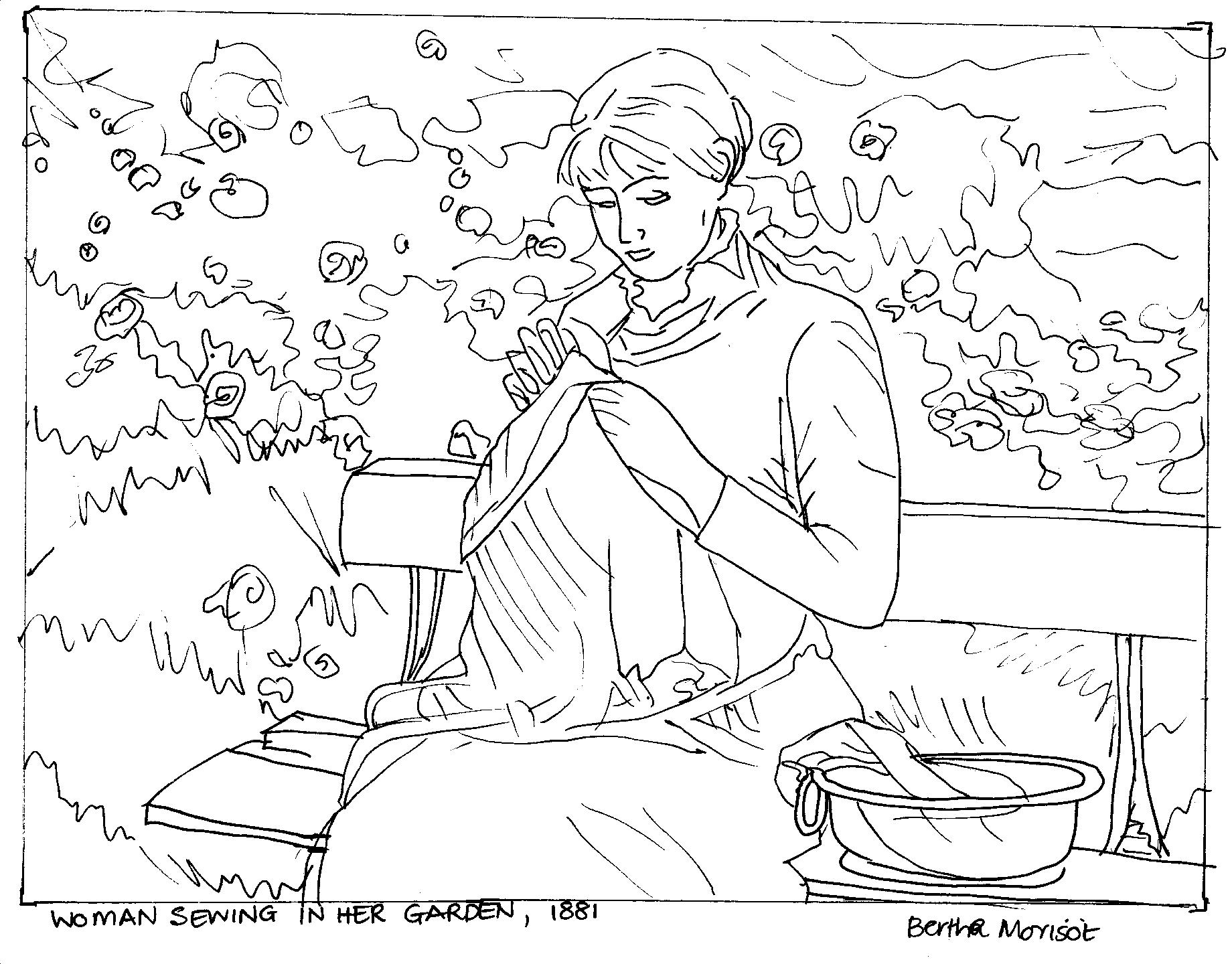 882x700 Simple Garden Coloring Pages 1840x1440 Drawings