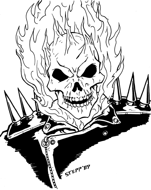 635x800 Ghost Rider By Theelysian