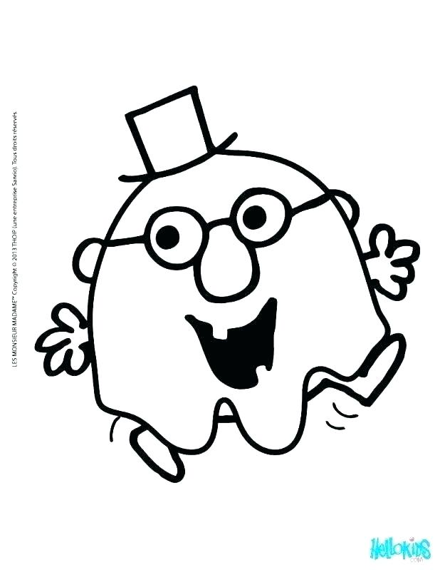 618x799 Simple Pac Man Coloring Page Best Of Ghost Pages A Kids Printable