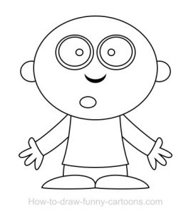 268x300 Coloring Pages Simple Ghost Drawing Simple Ghost Drawing Step By