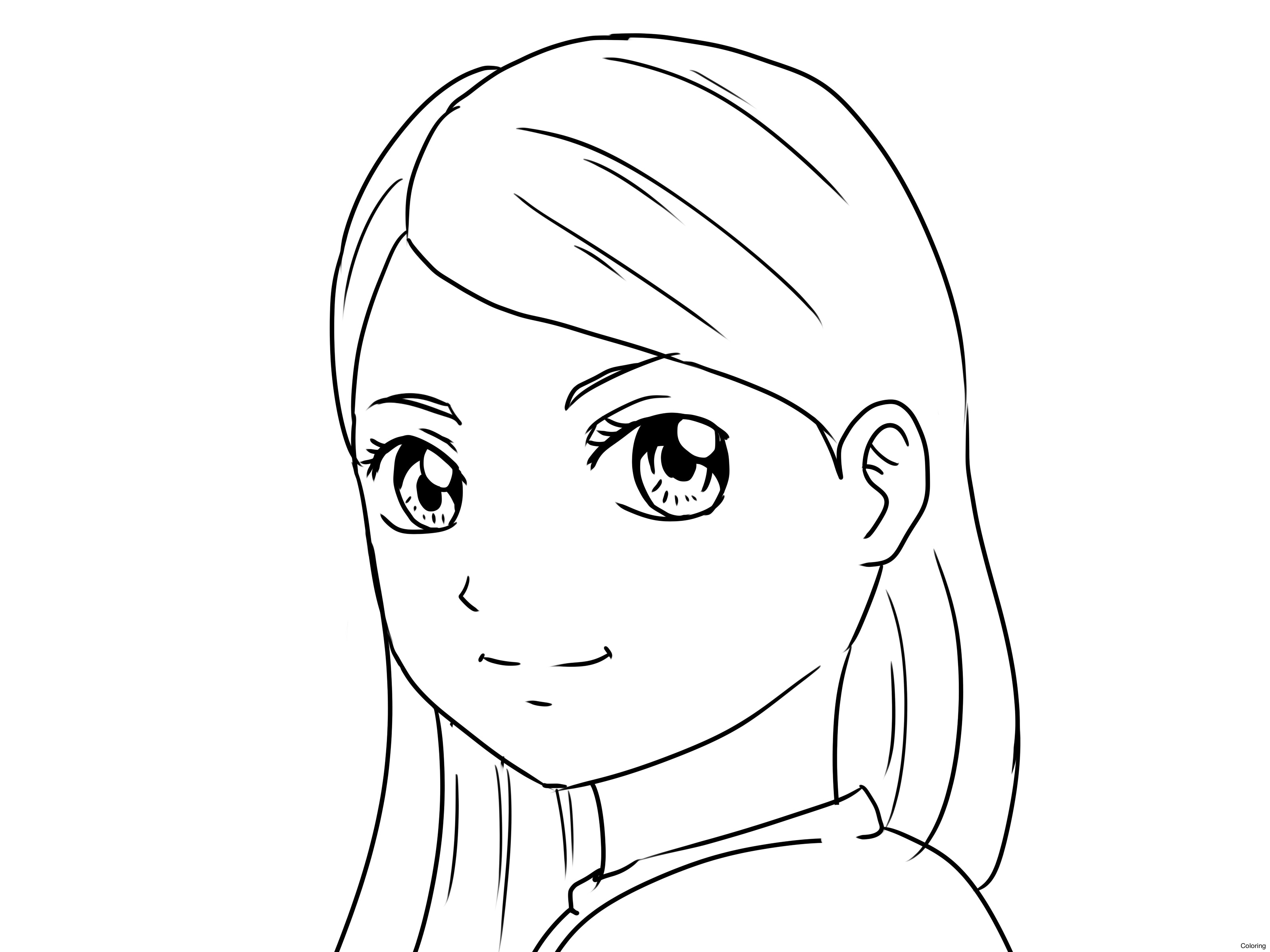 3200x2400 Easy Anime Girl Drawing To Draw How A Coloring 28f For Beginners