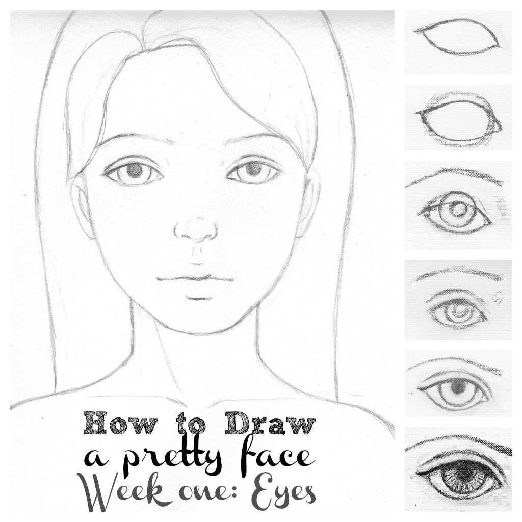 1024x1024 Face Of Girl Drawing Step By Step Simple Girls Face Drawing
