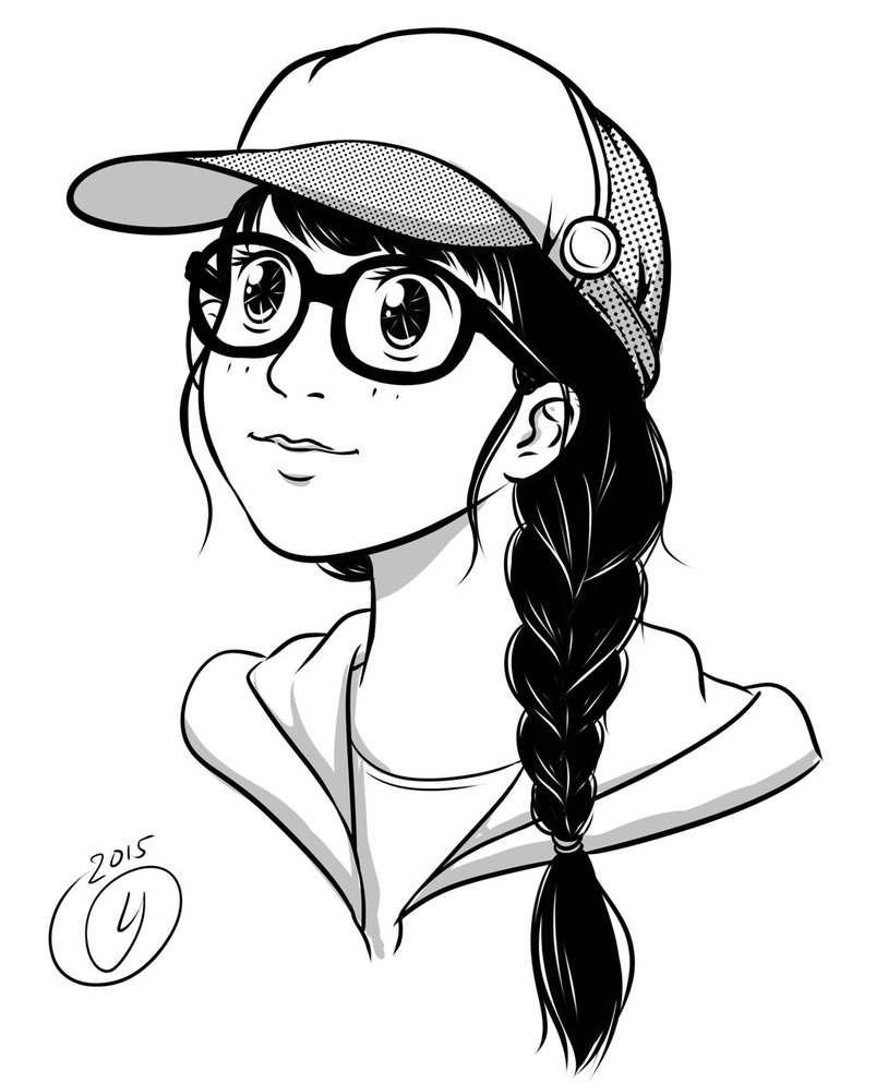 803x994 Glasses Girl By Lyduong