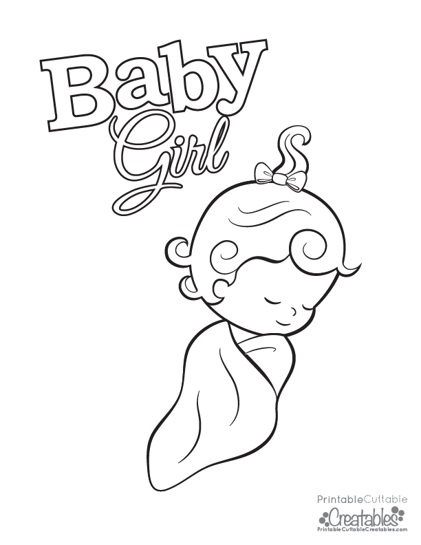 612x792 Baby Girl Coloring Pages Colouring For Snazzy Draw Paint