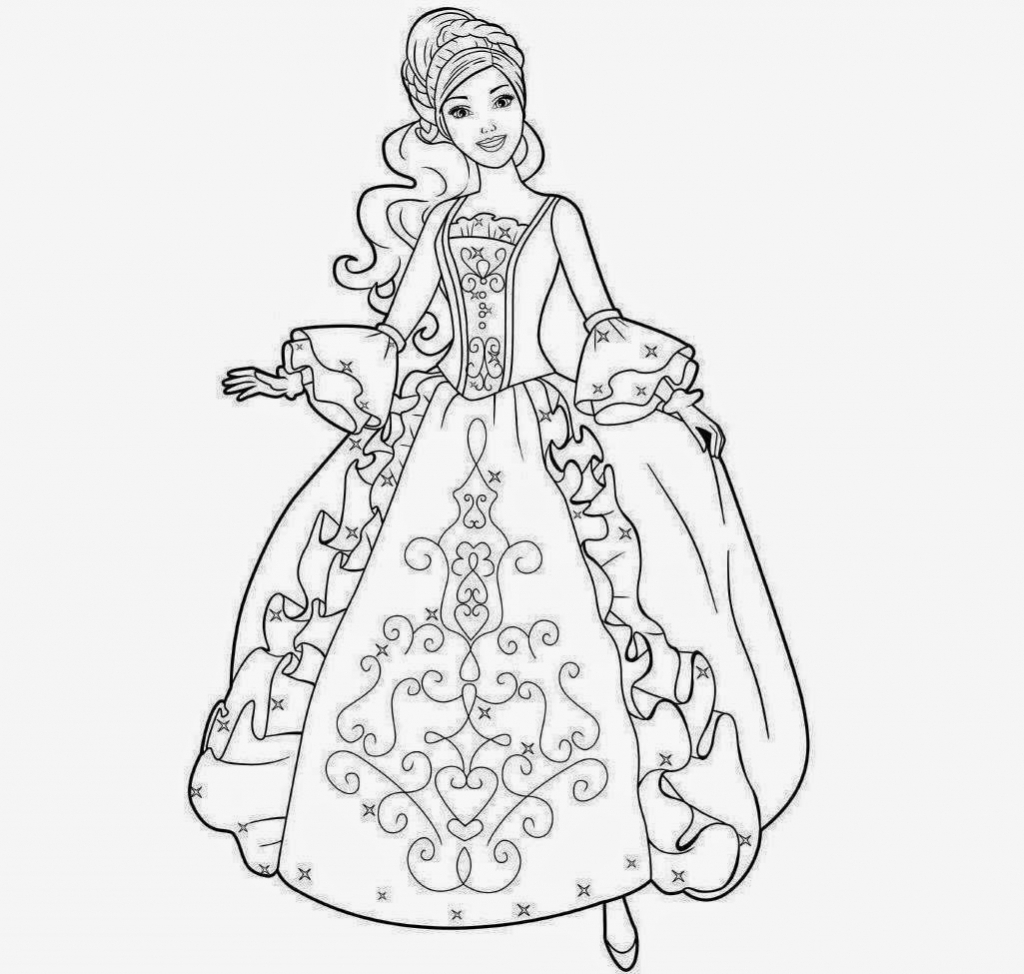 1024x974 Simple Barbie Girl Images In Pencil Drowing