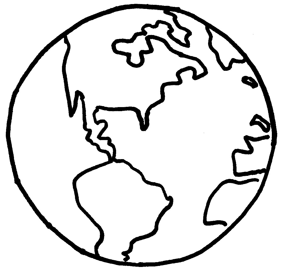 1110x1064 Earth Pictures To Color