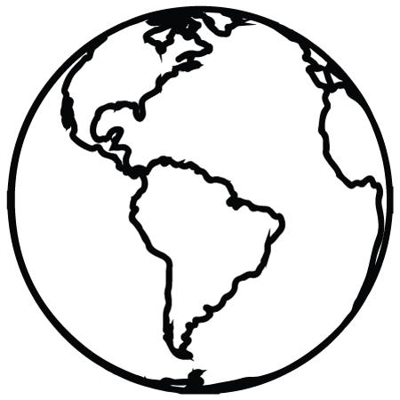 450x450 Simple Earth Clipart Black And White Best Photos Of Planet Earth