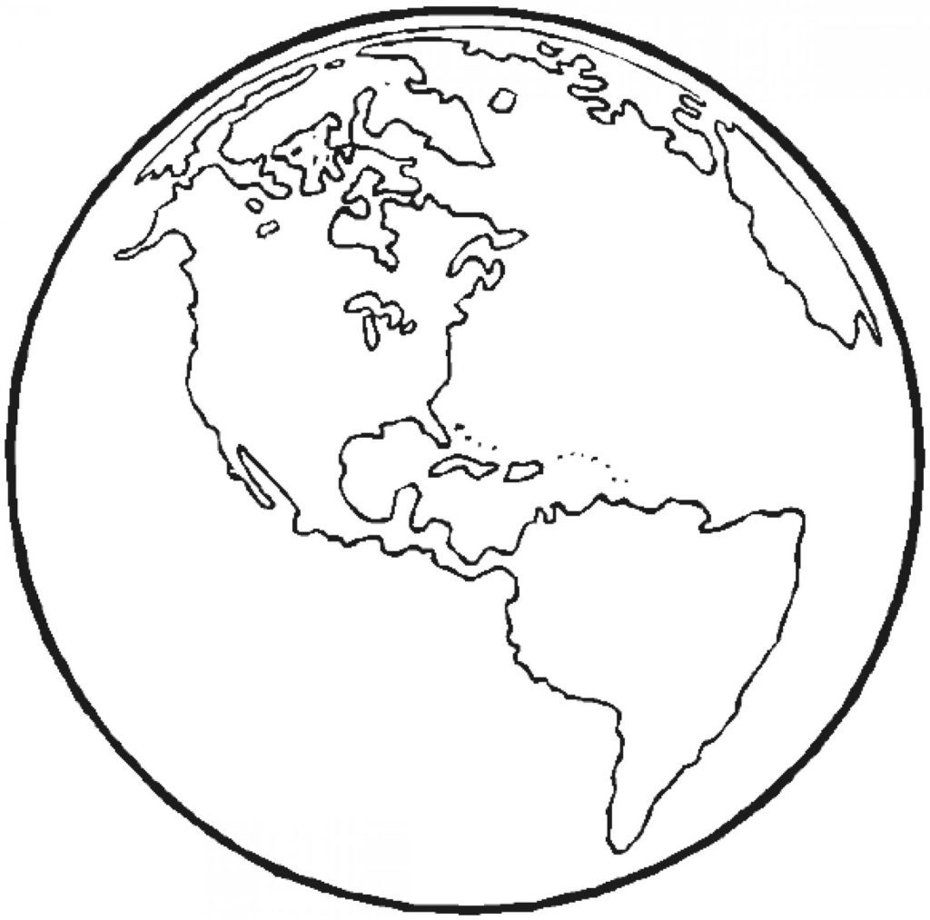 1024x1013 Simple Earth Coloring Pages Printable Earth Day Coloring Pages