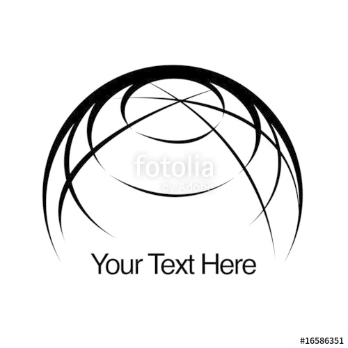 500x500 Simple Globe Logo With Text Stock Image And Royalty Free Vector
