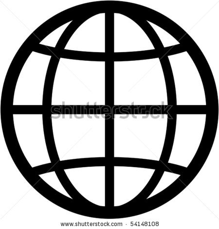 450x470 Simple Globe Vector Clipart Panda