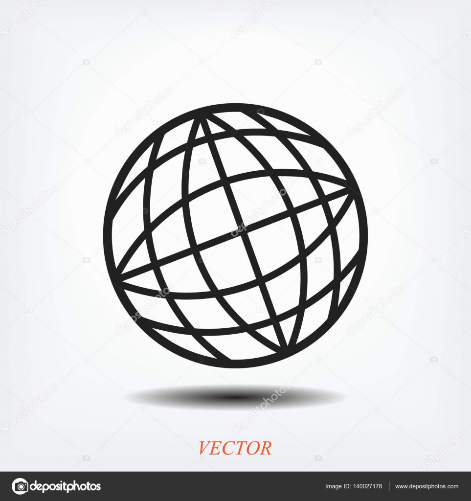 963x1024 Globe Simple Icon Stock Vector Simva