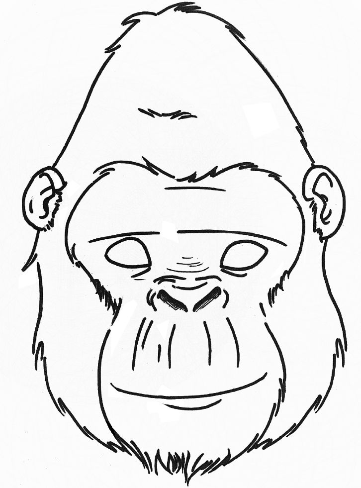 726x981 Gorilla Mask Printable