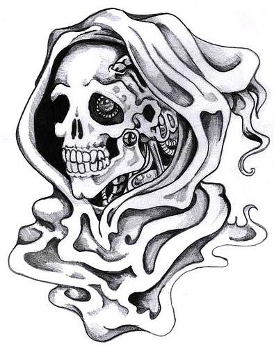 Simple Grim Reaper Drawing