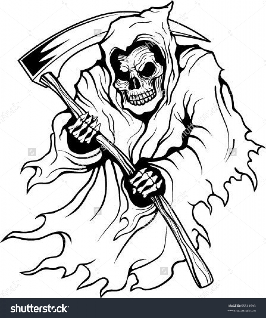 Simple grim reaper drawing at getdrawings free for personal 858x1024 grim reaper drawings grim reaper stock photos images amp pictures voltagebd Images