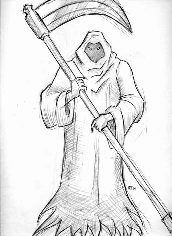 Simple Grim Reaper Drawing at GetDrawings.com | Free for ...