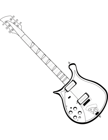 371x480 Electric Guitar Coloring Page Free Printable Pages