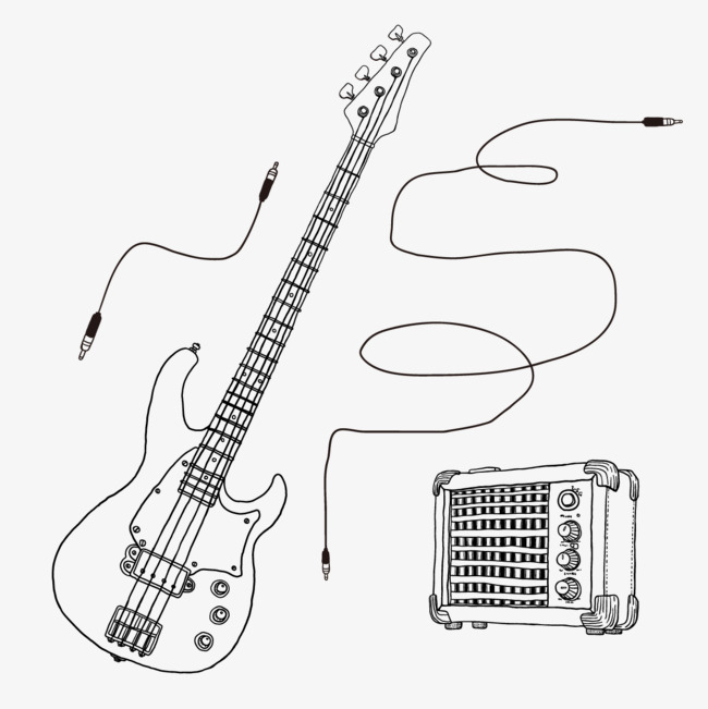 Simple Guitar Drawing at GetDrawings.com | Free for personal use ...