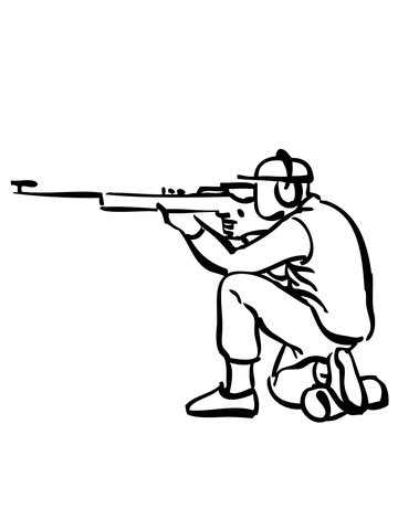 360x480 Rifle Shooting Coloring Page Free Printable Coloring Pages