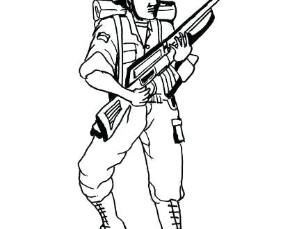 440x330 Simple Gun Coloring Pages Fee With Additional Print Colo