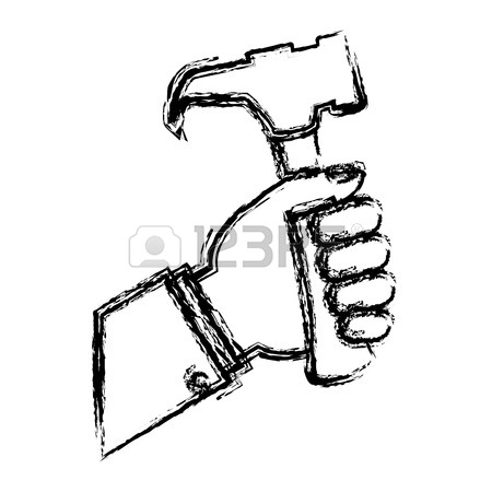 Simple Hammer Drawing