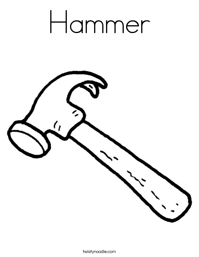 685x886 Hammer Coloring Pages