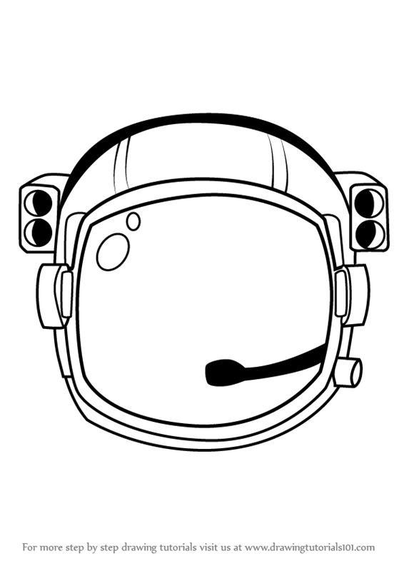 566x800 Learn How To Draw An Astronaut's Helmet (Tools) Step By Step