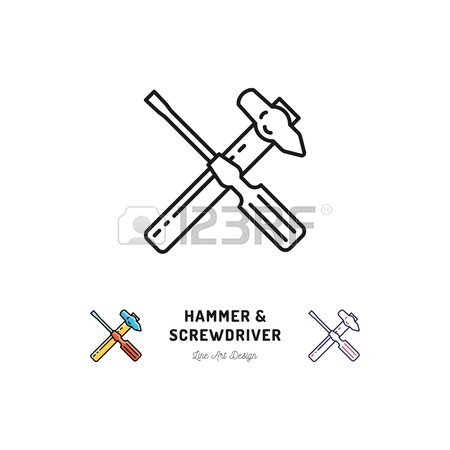 450x450 573 Hammer Hammer Simple Pictogram Stock Illustrations, Cliparts
