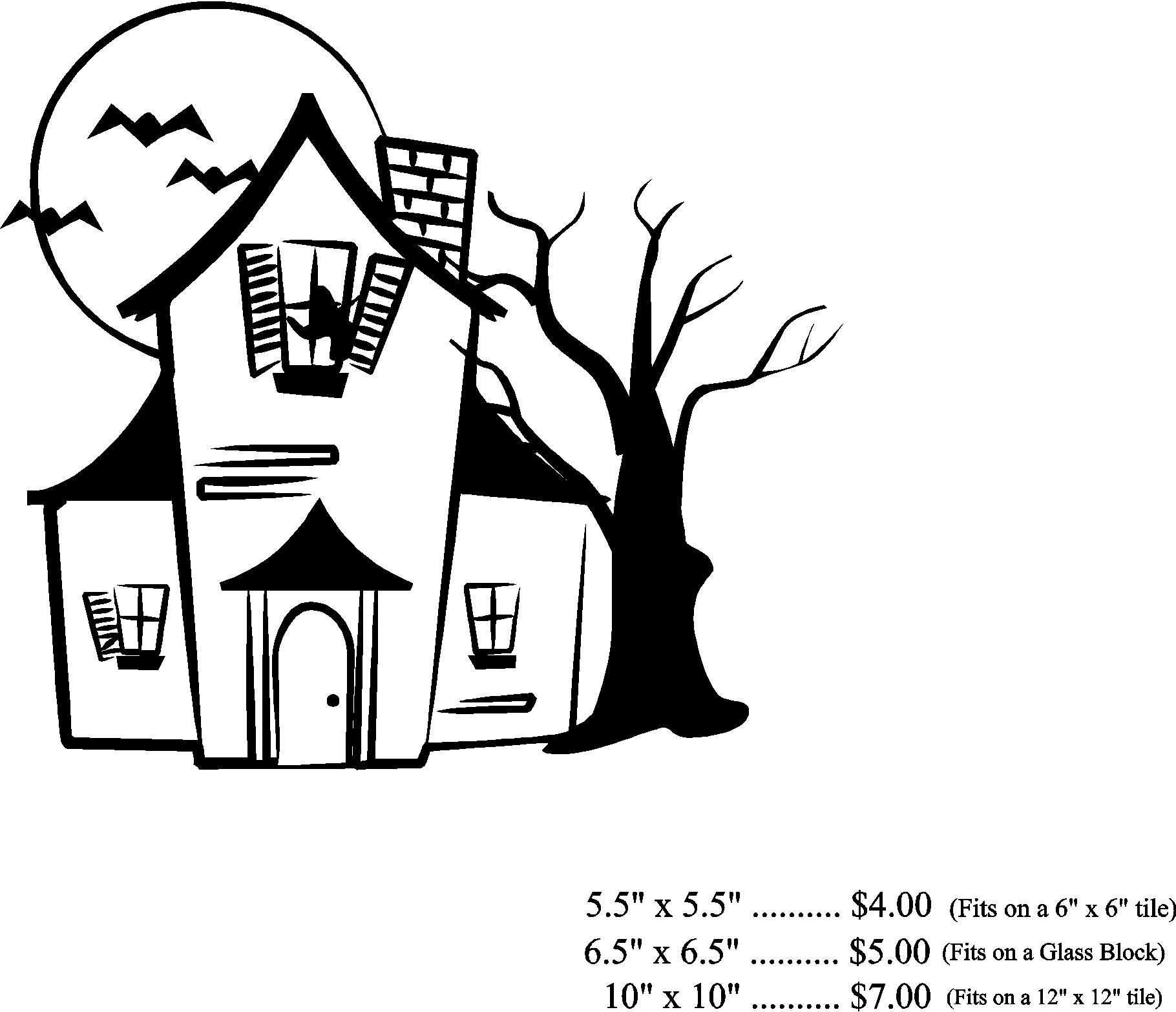 simple haunted house drawing at free for