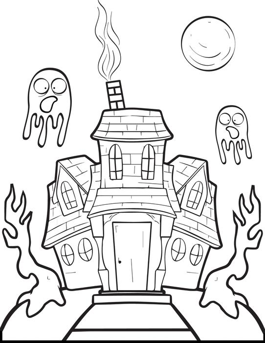 House Drawing Color: Simple Haunted House Drawing At GetDrawings