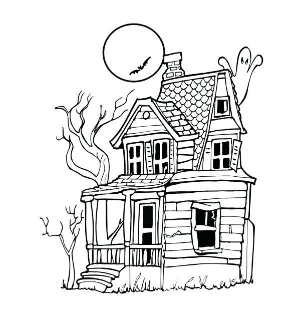 615x665 Haunted Mansion Coloring Pages World Haunted Mansion Haunted